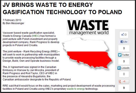 אריאל מליק - מפעלי הפסולת לאנרגיה מגיעים לפולין